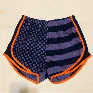 Nike Women's Running Shorts Purple Orange sz: S
